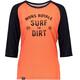 Mons Royale W's Phoenix Raglan Surf 3/4 T-Shirt Coral/9 Iron